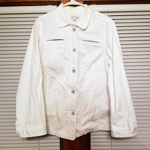 Very Nice Coldwater Creek White Jacket